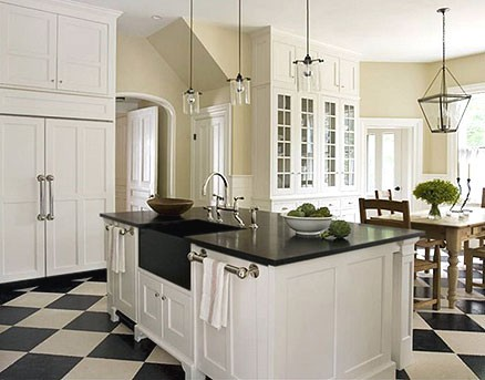 The Black And White Checkered Floor Lorri Dyner Design