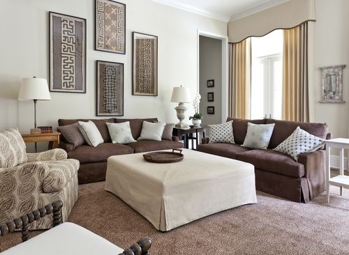 Too much brown furniture a national epidemic lorri for Cleaning living room furniture