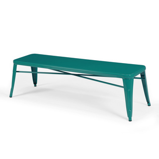 Via Overstock Tabouret Peacock Metal Bench