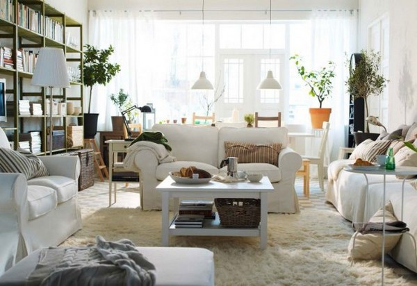 white ikea living room