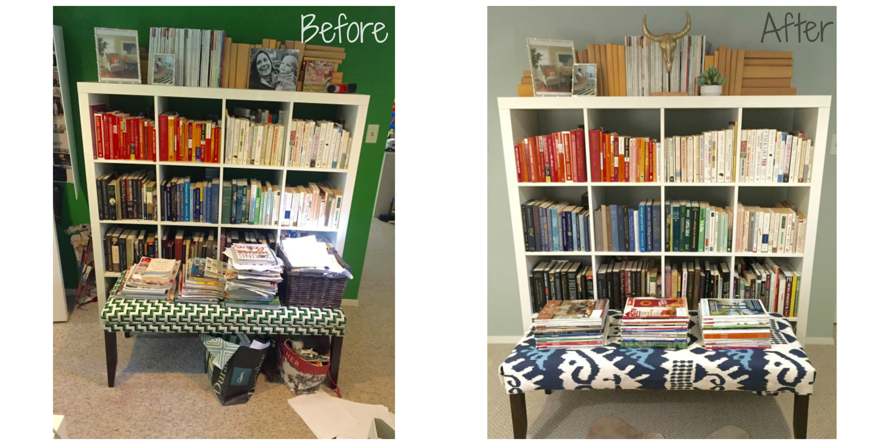 Lorri Dyner Before After Bookshelf