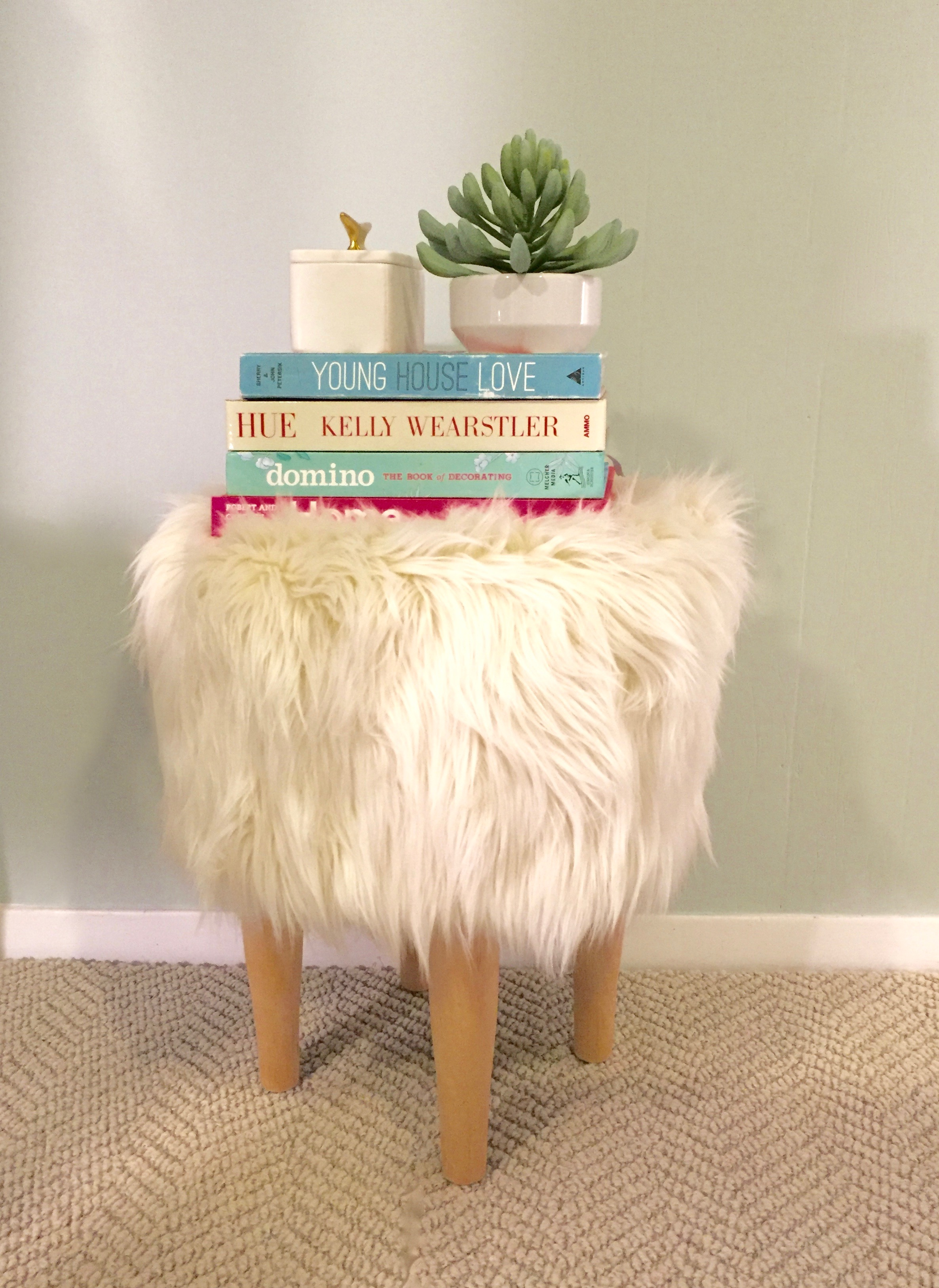 lorri dyner sheepskin stool